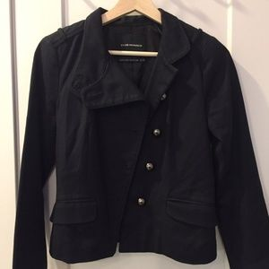 Club Monaco Women Navy Jacket Size XS/TP
